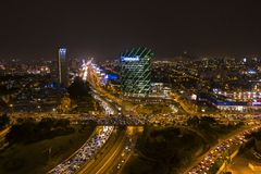 Aerial view of Interchange road and Interbank building royalty free stock image