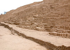 LIMA, PERU - NOV 24, 2015: The Huaca Pucllana. Lima, Peru Stock Photography