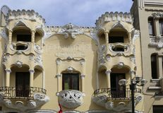LIMA, 04,2015 PERU-NOVEMBER: Mooie balkons in één van h royalty-vrije stock fotografie
