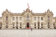 LIMA, PERU - OCTOBER 31, 2011: Government palace with guards Royalty Free Stock Photos