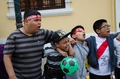 Lima, Peru - OCTOBER 10th 2017: Fanaticism in Peru Peru vs Colombia Russia 2018 Royalty Free Stock Photo