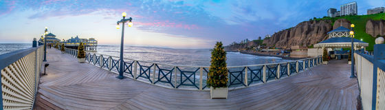 Lima, Peru, panoramic Beach sunset Royalty Free Stock Image