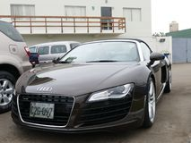 Brown convertible Audi R8 V8 FSi in Lima Royalty Free Stock Photos