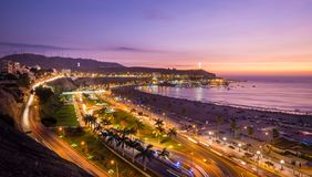 LIMA PERU AT SUNSET royalty free stock photo