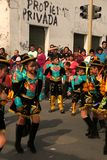 Lima Peru/8th September 2013/Young boys and girls perform tradit stock images
