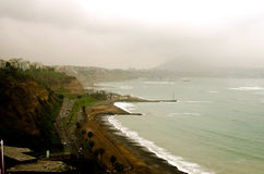 Lima, Peru. View of the beach of miraflores in Lima, Peru Royalty Free Stock Photo