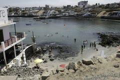 LIMA, PERU: vista panorâmica de San Bartolo Beach fotos de stock