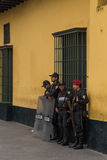 Lima policemen Stock Photography