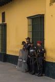 Lima policemen Stock Photography