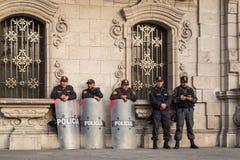Lima poliser Fotografering för Bildbyråer