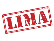 Lima red stamp Stock Photography