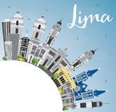 Lima Skyline con lo spazio di Gray Buildings, del cielo blu e della copia Fotografie Stock