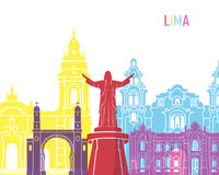 Lima skyline pop Royalty Free Stock Images