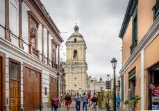 Lima Street Scene foto de archivo libre de regalías