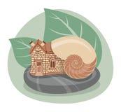 Ślimaczka dom Zdjęcie Stock
