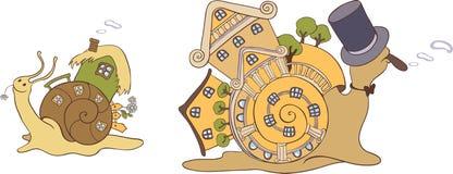 Ślimaczków domy Zdjęcie Royalty Free