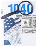 Limage d'impôts Photos stock