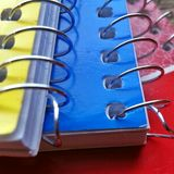 Ślimakowaci notatniki Obraz Stock