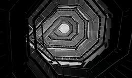 Ślimakowatego schody abstrakcjonistyczny projekt Zdjęcia Royalty Free