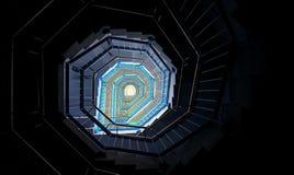Ślimakowatego schody abstrakcjonistyczny projekt Obrazy Stock