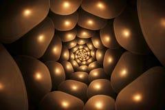 Ślimakowaty brown abstrakcjonistyczny fractal Zdjęcie Stock
