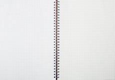 Ślimakowaty kreskowy notatnik Fotografia Royalty Free