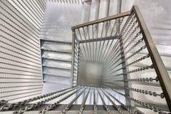 Ślimakowaty metalu schody Zdjęcie Stock