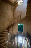 Ślimakowaty schody w Malta Morskim muzeum w Vittoriosa Zdjęcie Stock