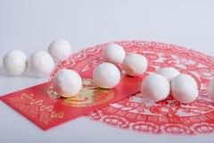 Limaktiga risbollar för traditionell kines Arkivfoto