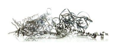Limalha do metal no branco Fotografia de Stock