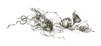 Limalla del metal en blanco Fotografía de archivo libre de regalías