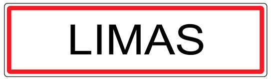 Limas city traffic sign illustration in France Royalty Free Stock Image