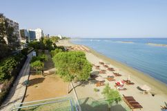 Limassol beach Neapoli, Cyprus Stock Photos