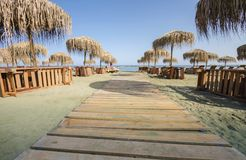 Limassol beach Neapoli, Cyprus Stock Photography