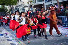 Limassol Carnival Parade in Cyprus Stock Photos