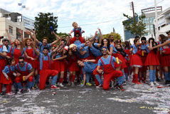 Limassol Carnival Parade Cyprus Stock Photography