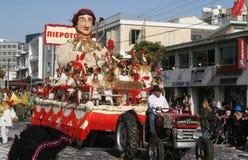 Limassol, Chipre, el 26 de febrero de 2017: Festival anual Karnavali Lemesou del carnaval de Limassol foto de archivo libre de regalías
