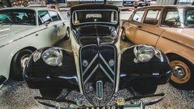 Limassol, Chypre - août 2018 : Musée de moteur de la Chypre Voyage autour de l'île de la Chypre Véhicule de cru Images libres de droits