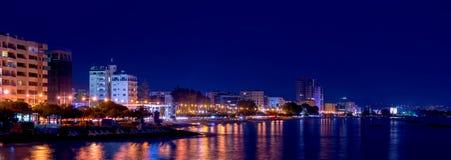 Limassol coastline at night. Royalty Free Stock Image