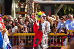 LIMASSOL, CYPRUS - FEBRUARY 26: Unidentified Carnival participants march in Cyprus Carnival Parade on FEBRUARY 26, 2017 Royalty Free Stock Image