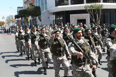 Members of Special Forces on parade stock photography