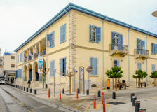 LIMASSOL, CYPRUS - MARCH 3, 2017: University Building in Old Tow Royalty Free Stock Photos
