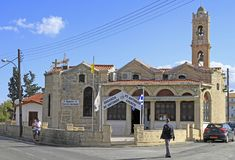 Church of Saint Antony in Limassol stock images