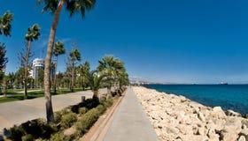 Limassol deptaka aleja, Molos, Cypr fotografia stock