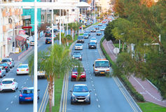 Limassol evening traffic Royalty Free Stock Photos
