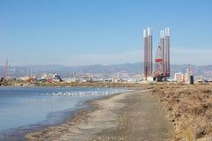Limassol-Hafen vom Salzsee Stockfotos