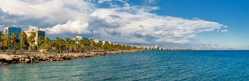 Limassol horizonpanorama stock afbeelding