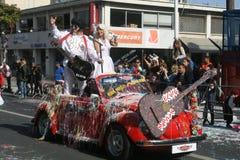 Limassol karnevalfestival Karnavali Lemesou 2017 royaltyfria bilder