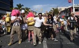Limassol-Karnevalsparade Zypern stockbild