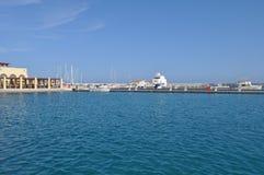 Limassol marina Arkivfoton